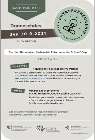 1. Nationalen Sustainable Enterpreneurial School-Dag